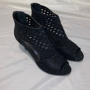 Woman's size 12 black Rhinestone Booties
